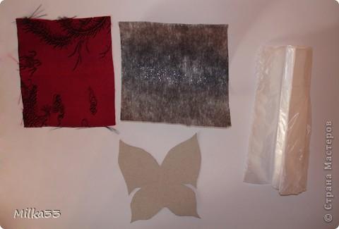 бабочка из ткани за 15 минут фото 2