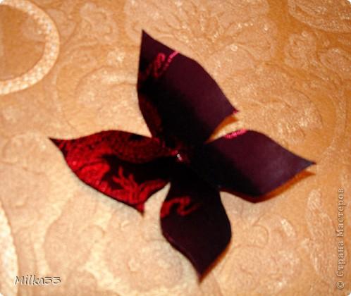 Мастер-класс Аппликация бабочка из ткани за 15 минут Ткань.