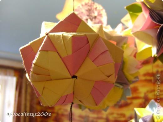 Мини кусудама Aquilegia Flower фото 7