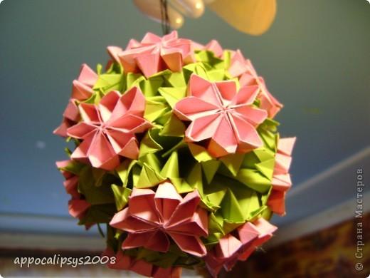 Мини кусудама Aquilegia Flower фото 9