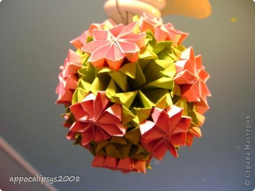 Мини кусудама Aquilegia Flower фото 10
