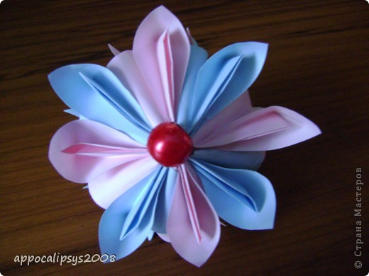 Мини кусудама Aquilegia Flower фото 1