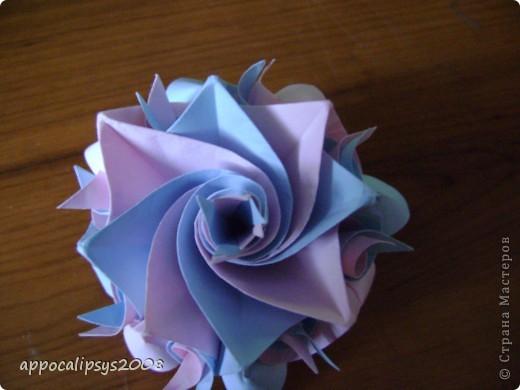 Мини кусудама Aquilegia Flower фото 2