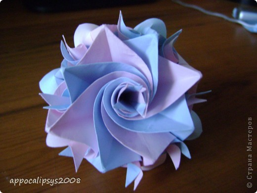 Мини кусудама Aquilegia Flower фото 3