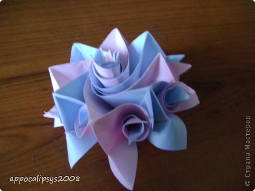 Мини кусудама Aquilegia Flower фото 4