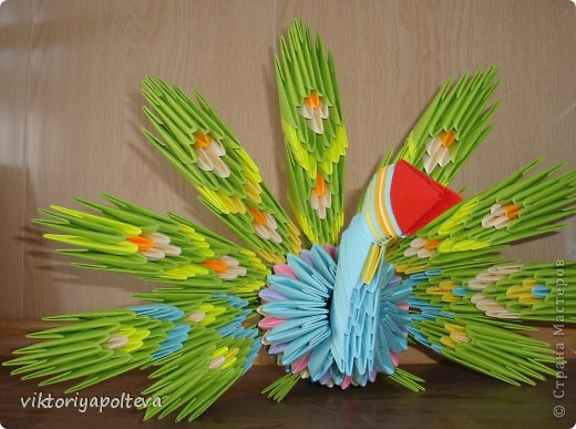 Выставка увлечений педагогов на районном Дне Учителя. Я представила свои работы в технике модульное оригами. фото 2