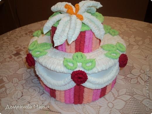 Хотела удивить сестру и подарить на день рождение что-то необычное и в тоже время сделанное своими руками.   Спасибо большое Татьяне Просняковой за ее чудесный торт, который так захотелось сделать самой http://stranamasterov.ru/node/31491?c=favorite.