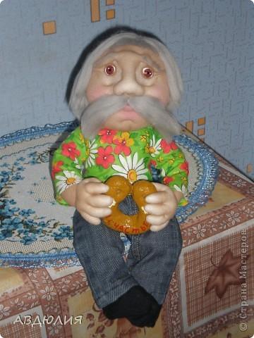Попросили сделать маленького домового , вот такой дед Федот у меня получился!!!
