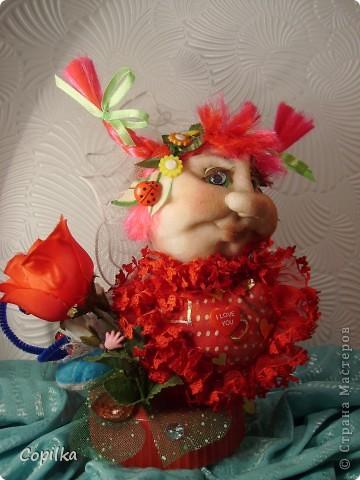 Вот такая Валентина(для своих - Валентинка) у меня получилась в подарок. фото 8