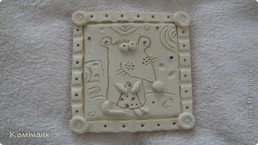 Мышки с сыром и лягушка с цветочком из глины фото 3
