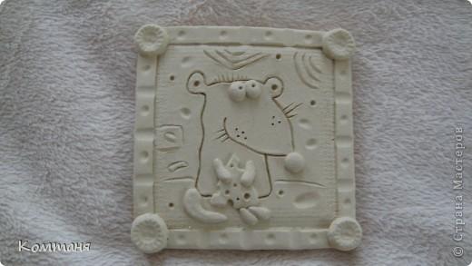 Мышки с сыром и лягушка с цветочком из глины фото 4