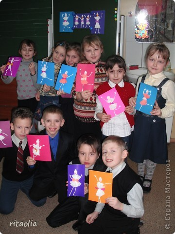 """Вот таких балерин мы с детьми сделали по книге Н.В. Дубровской """"Аппликация из гофрированной бумаги"""" фото 2"""