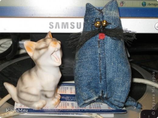 Мой первый джинсовый котодружок фото 2