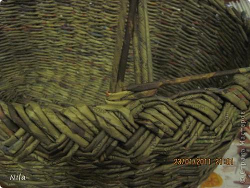 Наконец-то закончила корзинку для пикника. Красила трубочки водной морилкой Дуб. Готовую корзинку покрыла клеем ПВа и 2 раза аквалаком. фото 11