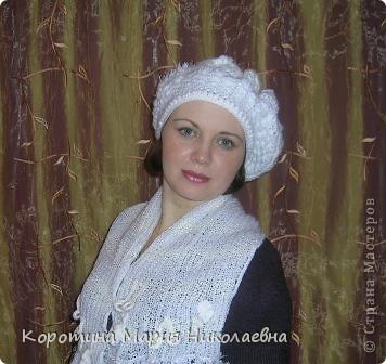 Представляю вашему вниманию своё изделие - комплект беретик и шарф, выполненные в технике вязание крючком и спицами. Берет связан в технике фриформ, на основе моделей журнала мод - вязание ,шапочки фото 1