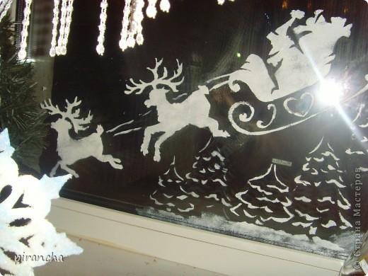 Губка, зубная паста, трафарет и на окнах морозные узоры! фото 3