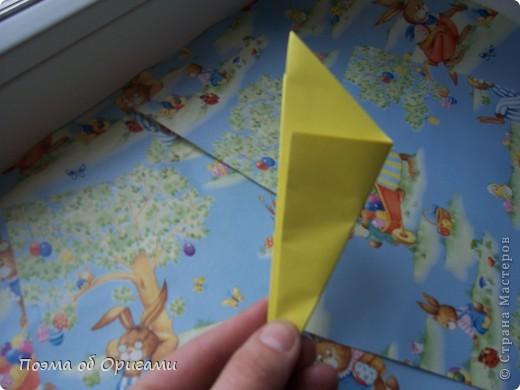 Более десяти лет назад в руках известного мастера оригами Пауло Мулатино (Германия) родилась идея декоративной подставки  для яиц . Очаровательный зайчик, трогательно прижимающий к себе пасхальное яичко оказался только началом. Обе модели складываются совсем несложно и достаточно быстро и доставят огромную радость Вам и Вашим детям. Для каждой поделки понадобится два квадрата размером 20х20.  фото 12
