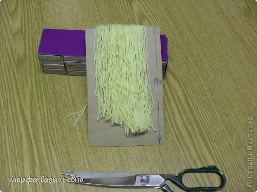 Волосы делаем из любой пряжи. фото 3