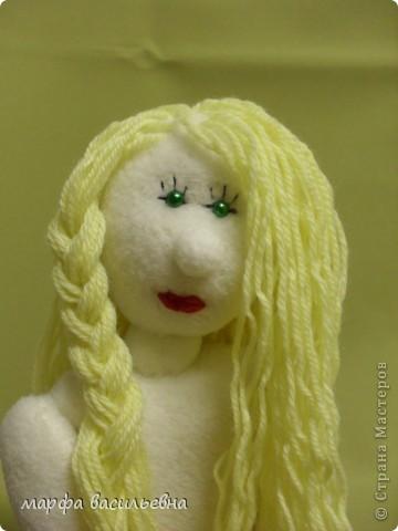 Волосы делаем из любой пряжи. фото 7