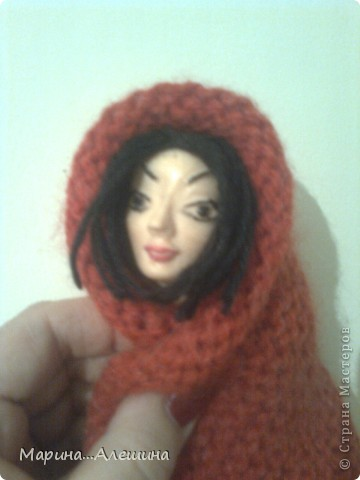 Это голова будущей куклы.Делала из полимерной глины первый раз в жизни.Вообще ...  лепила голову первый раз. фото 2