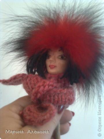 Это голова будущей куклы.Делала из полимерной глины первый раз в жизни.Вообще ...  лепила голову первый раз. фото 3