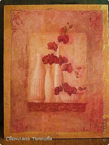 Декупажная карта,рисовая бумага,подрисовка акварельными карандашами,патина фото 2