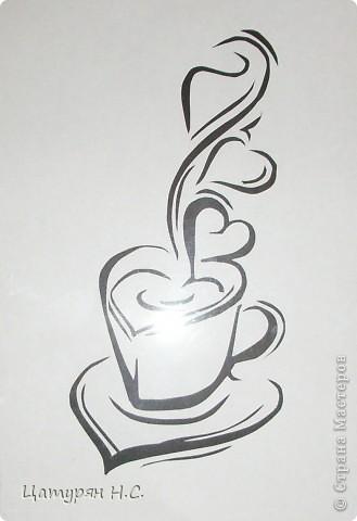Трафарет для кофе  из бумаги