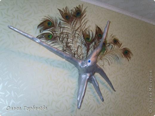 Что за лучи?Морской звезды?Иль с неба звездочка упала? Иль это пава с хвостом из перьев Свои крыла два распластала! Взмахнула птица--не летит... На стенке крепенько висит. фото 2
