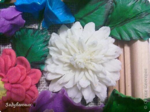 Панно с цветами из пластики и ХФ фото 3