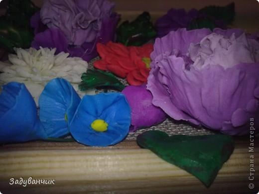 Панно с цветами из пластики и ХФ фото 4