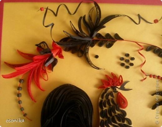 Очередная работа с курсов - по мотивам хохломской росписи.  фото 2