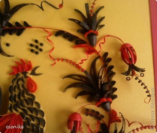 Очередная работа с курсов - по мотивам хохломской росписи.  фото 3
