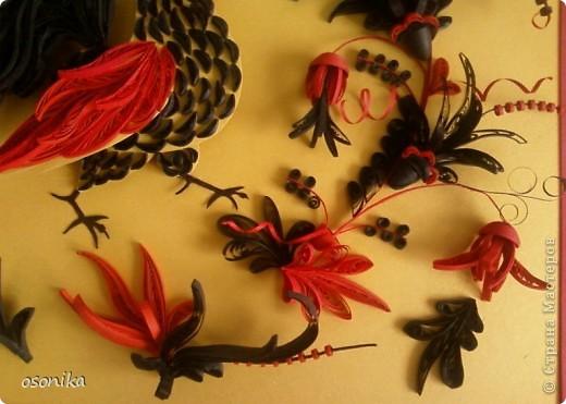 Очередная работа с курсов - по мотивам хохломской росписи.  фото 4