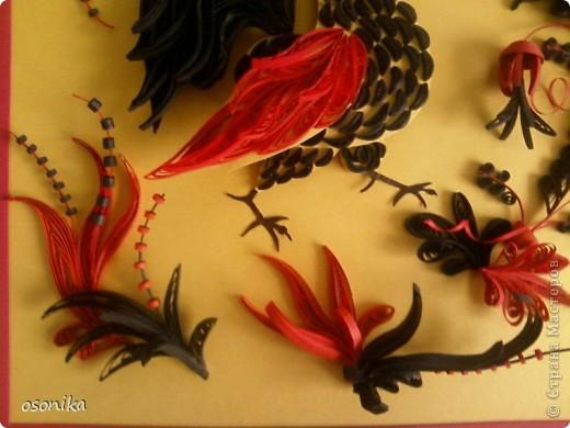 Очередная работа с курсов - по мотивам хохломской росписи.  фото 5