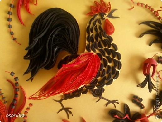 Очередная работа с курсов - по мотивам хохломской росписи.  фото 6