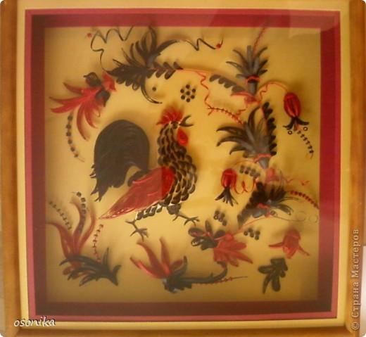 Очередная работа с курсов - по мотивам хохломской росписи.  фото 7