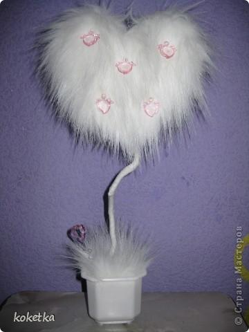 Мое пушистое сердечко-деревце на Валентинов день. фото 8