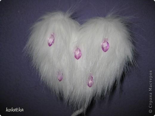 Мое пушистое сердечко-деревце на Валентинов день. фото 2