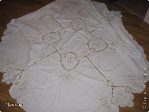 скатерть,вышивка крестом,вязание крючком фото 5