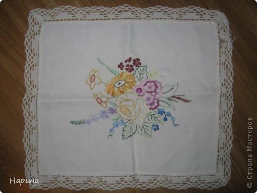 скатерть,вышивка крестом,вязание крючком фото 11