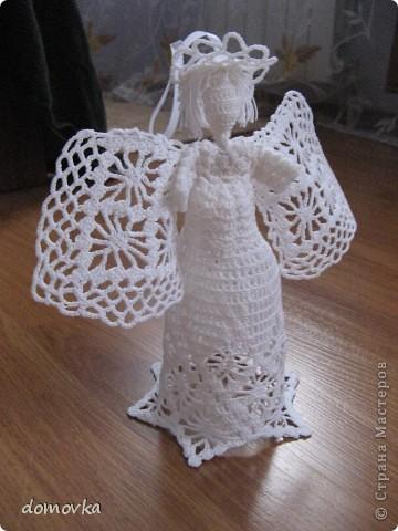 Вот что у меня получилось ))) Вязала ангелочка на ёлочку на этот Новый год.