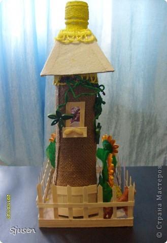 Так понравилось делать мельницу из бутылки http://stranamasterov.ru/node/141437  , что решила смоделировать еще и домик.  Вот какой особняк у меня получился))  фото 3