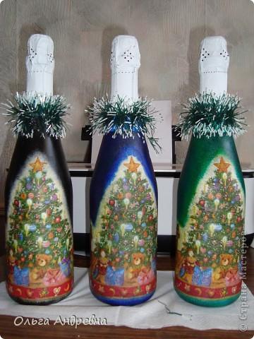 Вот такие бутылочки  делала в подарок воспитателям на Новый год. фото 1
