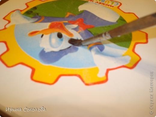 Декупаж детского столика фото 11