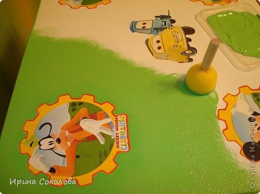 Декупаж детского столика фото 13