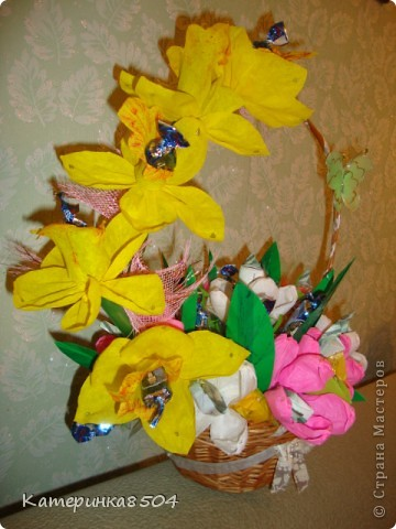 Букет на День Рождение бабушки. Ей понравилось!!))) фото 5