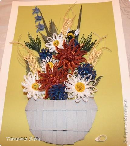 Букет полевых цветов. Подарок маме в день рождения. фото 1