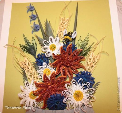 Букет полевых цветов. Подарок маме в день рождения. фото 2