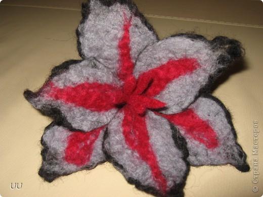 Мой первый цветок в технике мокрого валяния. фото 1
