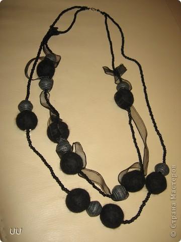 Созданы из моих первых валяных бусин. фото 1